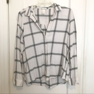 H&M Basic Button Down Flannel
